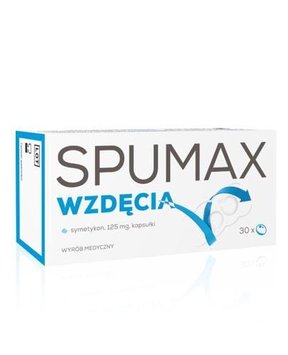 SPUMAX WZDĘCIA 125 mg - 30 kaps. Usuwa uczucie wzdęcia, pełności i łagodzi problemy trawienne. - Apteka internetowa Melissa