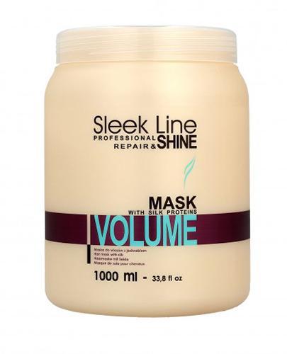 Stapiz Sleek Line Repair Maska do włosów z jedwabiem zwiększająca objętość - 1000 ml - cena, opinie, skład - Drogeria Melissa
