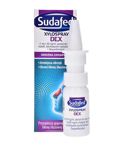 SUDAFED Xylospray DEX - 10 ml - zmniejsza obrzęk, chroni błonę śluzową - cena, dawkowanie, opinie