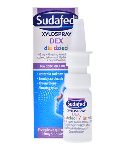 SUDAFED Xylospray DEX Dla dzieci - 10 ml - zmniejsza obrzęk, chroni błonę śluzową - cena, dawkowanie, opinie