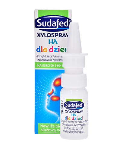 SUDAFED XYLOSPRAY HA Dla dzieci aerozol do nosa - 10 ml Spray na katar - cena, opinie, właściwości