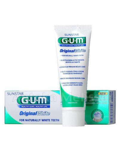 SUNSTAR GUM ORIGINAL WHITE Pasta do zębów wybielająca - 75 ml
