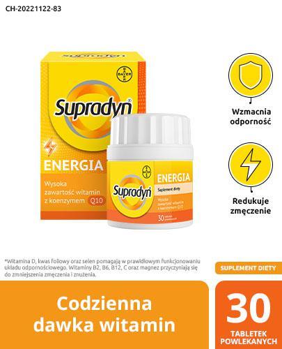 SUPRADYN ENERGIA - 30 tabl. kompleks witamin - opinie, stosowanie, ulotka - Drogeria Melissa