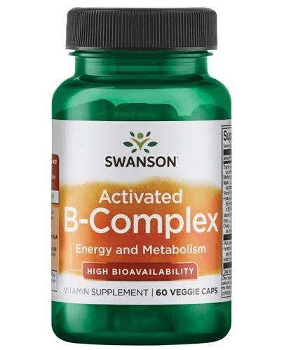 SWANSON Activated B-complex - 60 kaps. - stres, odporność, krążenie - cena, opinie, właściwości - Drogeria Melissa