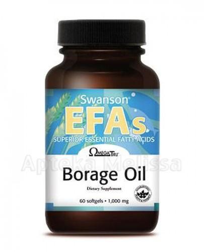 SWANSON Borage Oil 1000 mg - 60 kaps. - Apteka internetowa Melissa