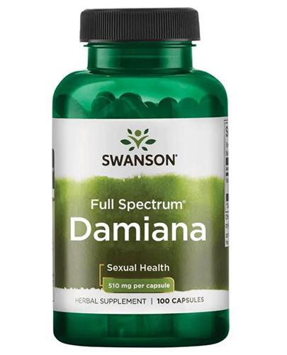 SWANSON Damiana 510 mg - stres, oczyszczanie, libido  - 100 kaps. - cena, dawkowanie, opinie  - Apteka internetowa Melissa