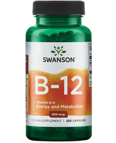 SWANSON Vitamin B12 500 mg - 250 kaps. - Apteka internetowa Melissa