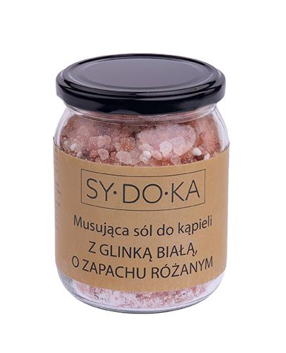 Sydoka Musująca sól do kąpieli z glinką białą o zapachu różanym - 500 g - cena, opinie, wskazania