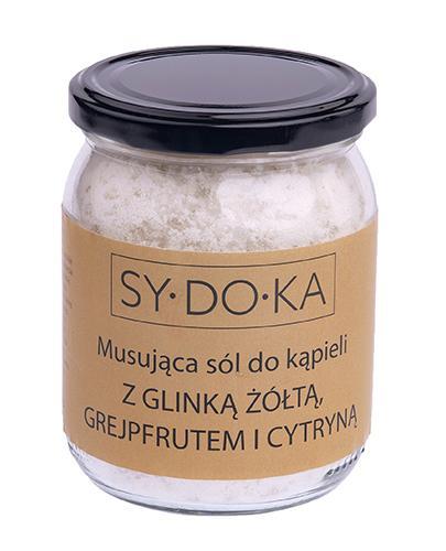 Sydoka Musująca sól do kąpieli z glinką żółtą, grejpfrutem i cytryną - 500 g - cena, opinie, właściwości