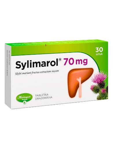 SYLIMAROL 70 mg - 30 tabl. Lek na wątrobę - cena, opinie, właściwości  - Apteka internetowa Melissa