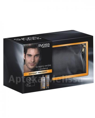 SYOSSMEN Power szampon - 500 ml + Power żel do włosów - 250 ml + Męska kosmetyczka