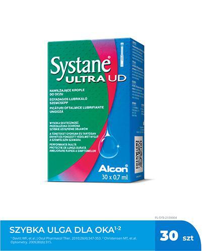 SYSTANE ULTRA UD - 30 x - 0,7 ml Nawilżające krople do oczu, do soczewek - cena, opinie, wskazania - Drogeria Melissa
