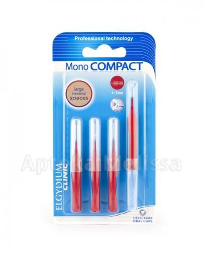 ELGYDIUM Clinic Mono Compact szczoteczki międzyzębowe czerwone 4-3 mm - 1 szt. - Apteka internetowa Melissa