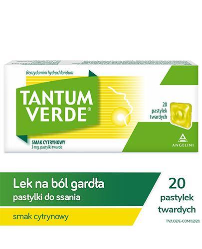 TANTUM VERDE LEMON Smak cytrynowy - 20 past.  - Apteka internetowa Melissa