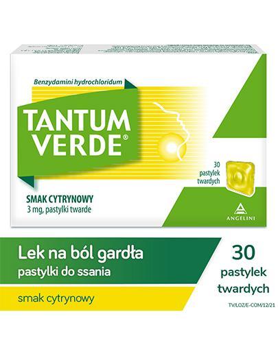 TANTUM VERDE LEMON Smak cytrynowy - 30 past.
