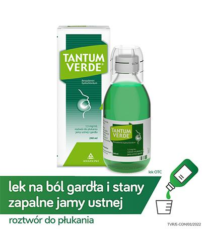 TANTUM VERDE Płyn do płukania gardła i jamy ustnej - 240 ml - Apteka internetowa Melissa