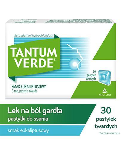 TANTUM VERDE Smak eukaliptusowy - 30 past. - Apteka internetowa Melissa