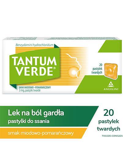 TANTUM VERDE Smak miodowo-pomarańczowy - 20 past. - Apteka internetowa Melissa