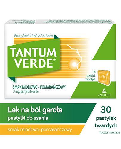 TANTUM VERDE Smak miodowo-pomarańczowy - 30 past. - Apteka internetowa Melissa