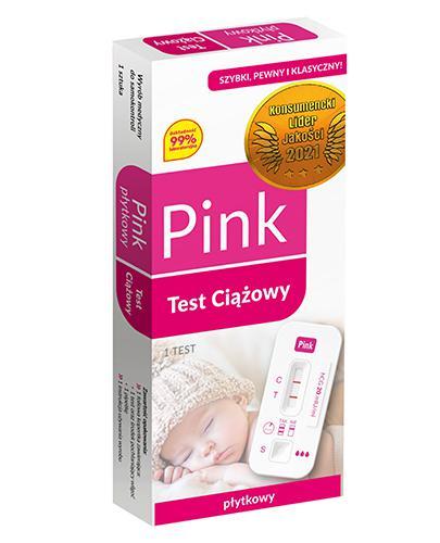 DOMOWE LABOLATORIUM PINK TEST Domowy test ciążowy płytkowy - 1 szt. - Apteka internetowa Melissa
