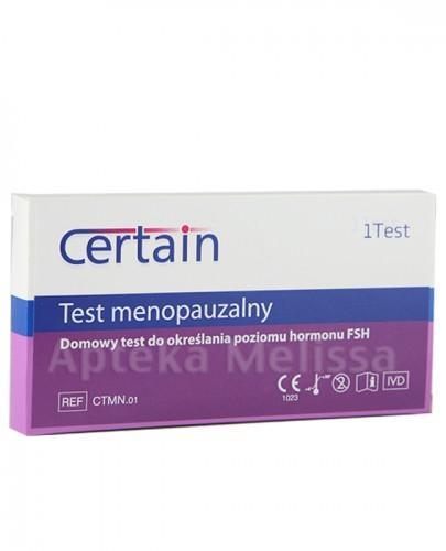 CERTAIN TEST MENOPAUZALNY - 1 op. - Apteka internetowa Melissa