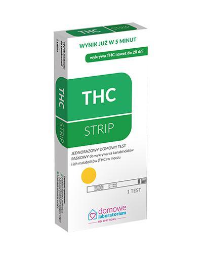DOMOWE LABOLATORIUM THC STRIP Test do wykrywania kanabinoidów - 1 szt. - Apteka internetowa Melissa