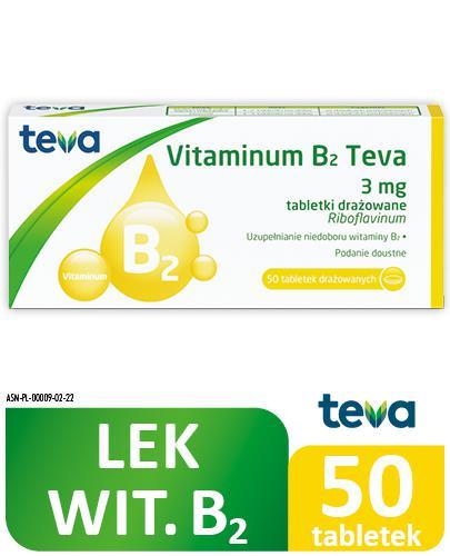 TEVA VITAMINUM B2 3 mg - 50 draż.