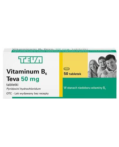 TEVA VITAMINUM B6 50 mg - 50 tabl. - Apteka internetowa Melissa