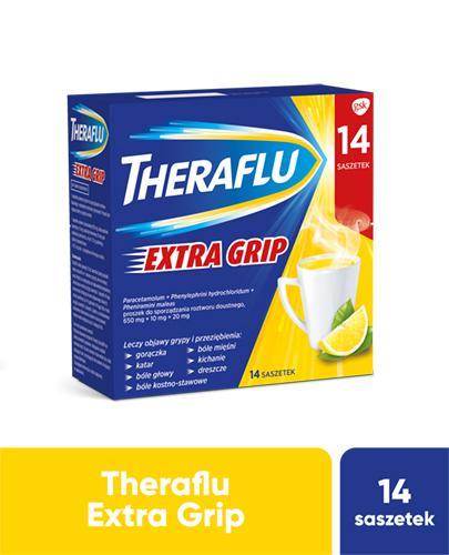 THERAFLU EXTRA GRIP Lek na objawy przeziębienia i grypy - 14 sasz. - Apteka internetowa Melissa