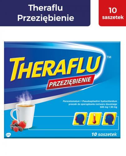 THERAFLU PRZEZIĘBIENIE Lek na objawy przeziębienia i grypy - 10 sasz. - Apteka internetowa Melissa