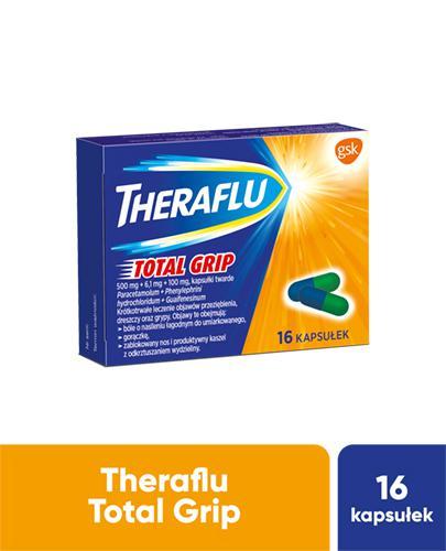 THERAFLU TOTAL GRIP Lek na objawy przeziębienia i grypy - 16 kaps.