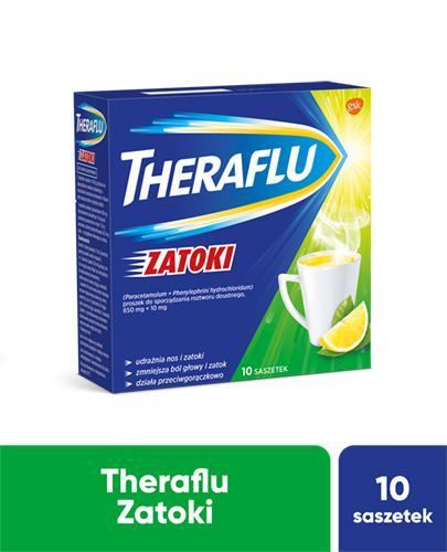 THERAFLU ZATOKI Lek na chore zatoki - 10 sasz. - cena, dawkowanie, opinie  - Apteka internetowa Melissa