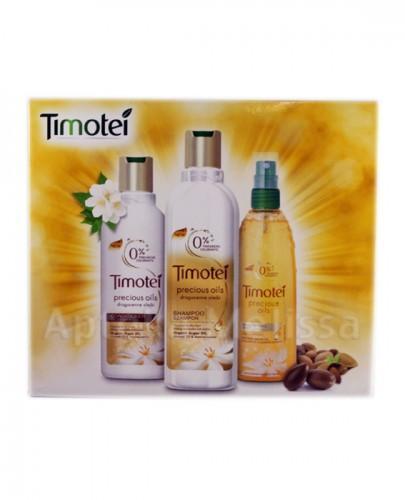TIMOTEI PRECIOUS OIL Szampon do włosów - 250 ml + Odżywka do włosów - 200 ml + Mgiełka upiększająca - 150 ml