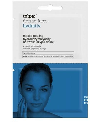 TOŁPA DERMO FACE HYDRATIV Maska-peeling hydroenzymatyczny na twarz, szyję i dekolt - 12 ml  - Apteka internetowa Melissa