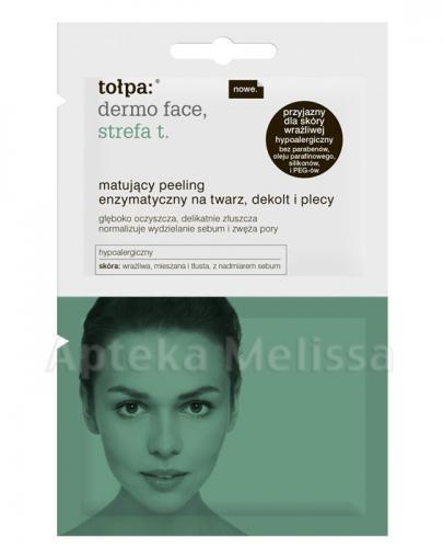 TOŁPA DERMO FACE Peeling matujący enzymatyczny na twarz dekolt i plecy - 2x6 ml - Apteka internetowa Melissa
