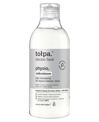 TOŁPA DERMO FACE PHYSIO Płyn micelarny do mycia twarzy i oczu - 200 ml - cena, opinie, wskazania - Drogeria Melissa