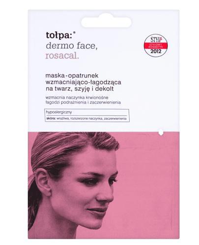 TOŁPA DERMO FACE ROSACAL Maska-opatrunek wzmacniająco-łagodząca na twarz, szyję i dekolt - 2x6 ml - cena, właściwości, opinie - Apteka internetowa Melissa