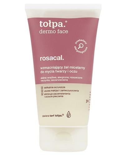 TOŁPA DERMO FACE ROSACAL Żel micelarny do mycia twarzy i oczu - 150 ml - cena, opinie, skład - Drogeria Melissa