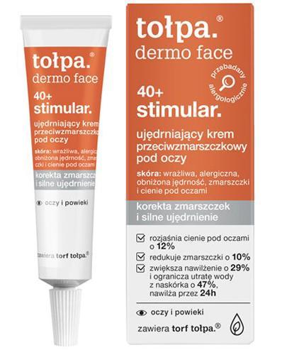 TOŁPA DERMO FACE STIMULAR 40+ Ujędrniający krem przeciwzmarszczkowy pod oczy - 10 ml - Drogeria Melissa