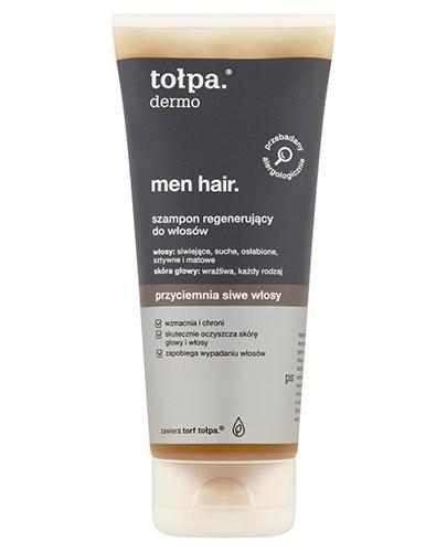 TOŁPA DERMO MEN HAIR Szampon regenerujący do włosów siwych - 200 ml  - Apteka internetowa Melissa