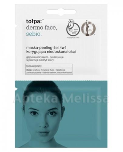 TOŁPA DERMO FACE SEBIO Maska-peeling-żel 4w1 - 2x6 ml - Apteka internetowa Melissa