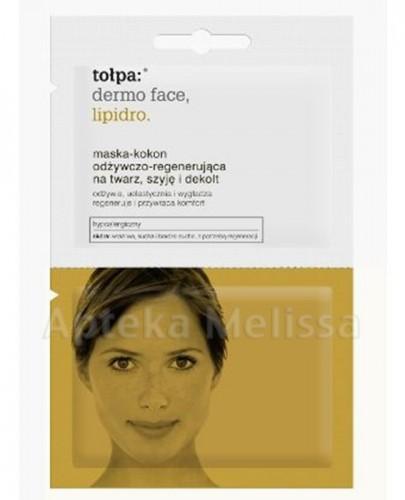 TOŁPA DERMO FACE LIPIDRO Maska-Kokon - odżywczo regenerująca na twarz szyję i dekolt - 2 x 6 ml  - Apteka internetowa Melissa