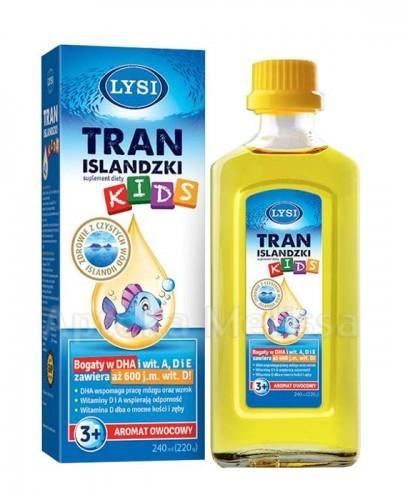 LYSI KIDS Tran Islandzki smak owocowy - 240 ml