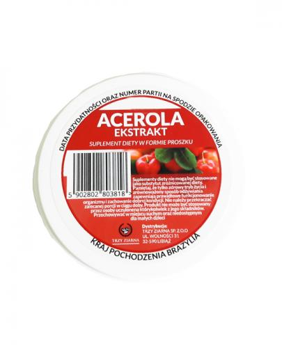 Acerola proszek TRZY ZIARNA - 100 g