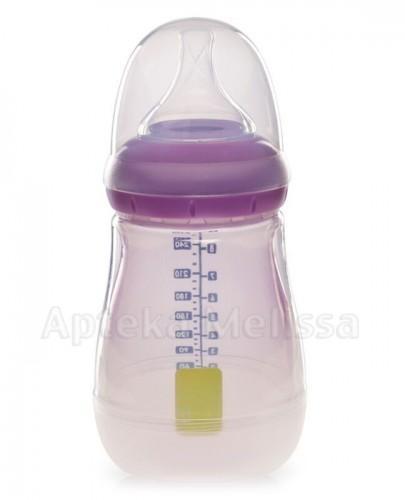 UMEE Antykolkowa butelka z osłonką do karmienia fioletowa 0m+ - 260 ml