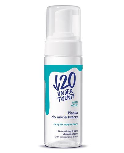 UNDER TWENTY Pianka do mycia twarzy - 150 ml - Anit Acne - cena, opinie, właściwości