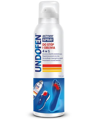 UNDOFEN Aktywny spray do stóp i obuwia 4w1 - 150 ml - cena, opinie, stosowanie