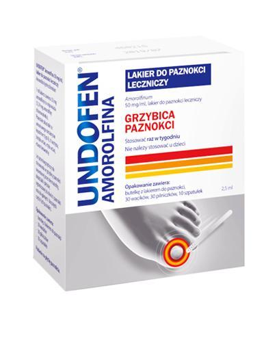 Undofen Amorolfina Lakier do paznokci leczniczy - 2,5 ml Na grzybicę paznokci - cena, opinie, stosowanie  - Apteka internetowa Melissa