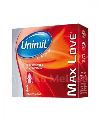 UNIMIL MAX LOVE Prezerwatywy - 3 szt.