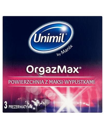 UNIMIL ORGAZMAX Prezerwatywy z wypustkami - 3 szt.